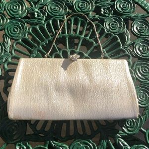 Vintage 1950s metallic evening clutch purse